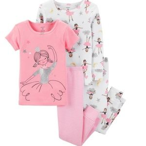 NWT Carter's 4pc Ballerina Pajama Set Toddler Girl